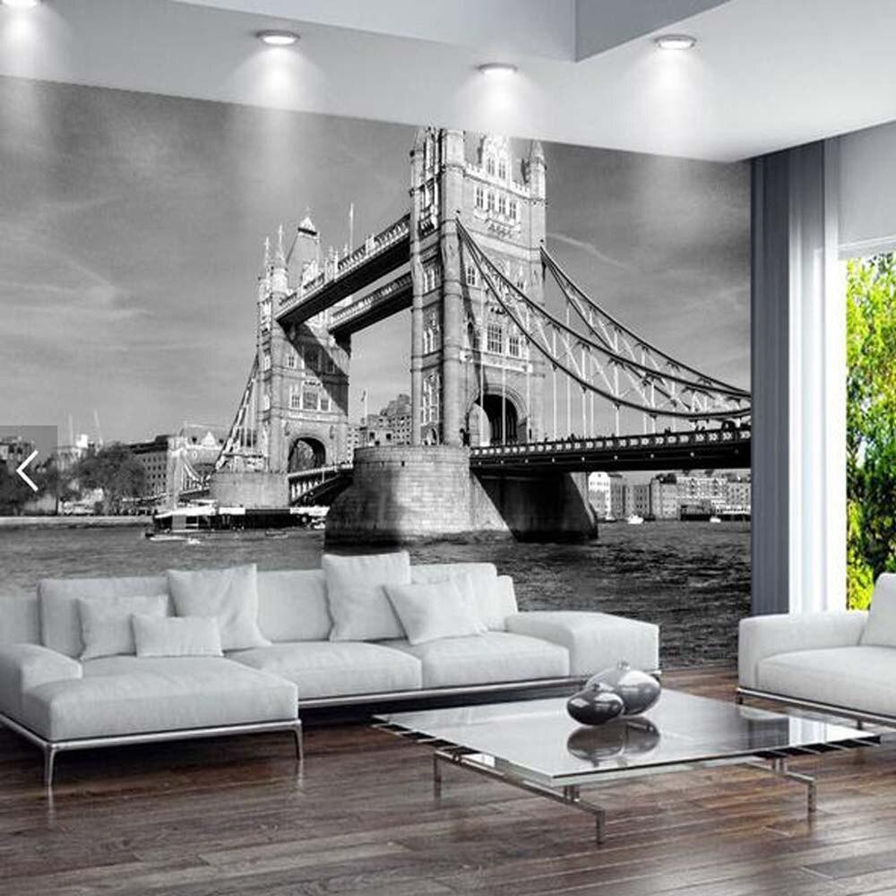 compare prices on london mural paper online shopping buy low european vintage london tower bridge city landscape wallpaper art for living room 3d photo murals london