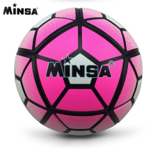 MINSA Brand High quality Red color A+ Standard Soccer Ball PU Soccer Ball Training Balls Football Official Size 5 race dedicated