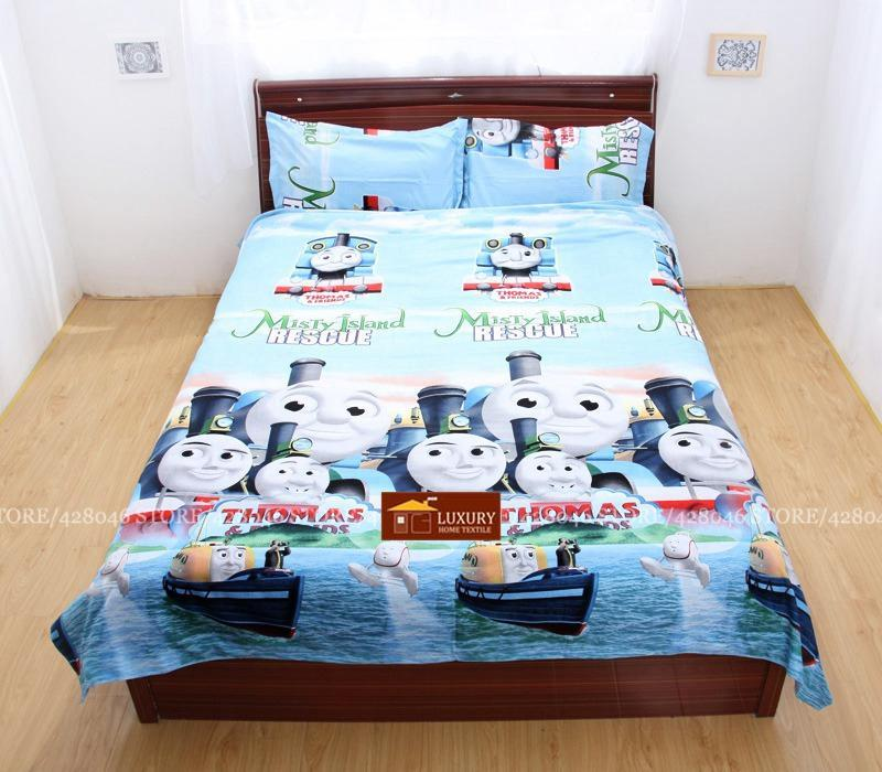3D bedding sets queen size,thomas and friends trains bed sets,kids bedclothes,bed linens,duvet cover set with sheet#3D30-95(China)