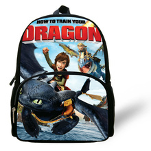 12inch Mochila Infantil Children School Bags How to Train Your Dragon Backpack Toothless For Boys Kids Backpack Night fury Print