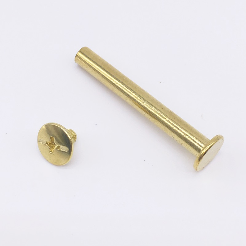 Chicago Screws Golden Nail Low Profile Binding Posts Dia 5 mm Length 5mm - 100mm<br><br>Aliexpress