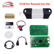 Newest V170 For Renault Can Clip V170 Auto OBD2 Scanner Diagnostic Tool For Renault Can clip For Renault 1998-2016 Free Shipping(China)