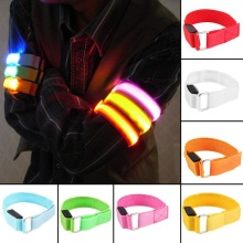 LED Arm Bands Lighting Armbands Leg Safety Band Hand Straps Cycling Bike Night Skating Party Shooting 7 Color Lamp Drop Shipping(China)