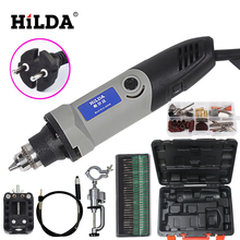 HILDA  400W Dremel style Electric Variable Speed Rotary Tools Mini Drill Mini Grinding Machine Wiith 84 pcs Metal Set
