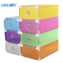 LOULONG Plastic Shoe Storage Box Clothes Organizer Rectangle PP Thickened Shoes Organizor Drawer Shoe Boxes Home Storage YJ007(China)