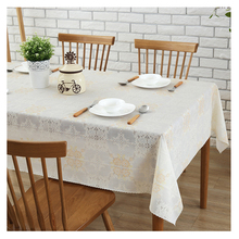 Pastoral PVC tablecloth Floral Printed Soft Glass Waterproof table cover Home Wedding Table Oilproof tafelkleed rechthoekige(China)