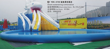 China Best Supplier for Inflatable Floating Water Slide Top Quality Inflatable Water Games HZ-E008(China)