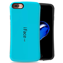 iFace mall Bicolor wave silicon case For iphone 7 7plus plus back shell protector cell phone skin For iphone 6 6s 5s SE 5c