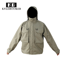 Kylebooker Breathable Fly Fishing Wading Jacket Waterproof Fishing Wader Jacket Clothes Fishing Outerwear(China)
