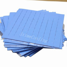 5000pcs/Lot 10x10x1MM Blue Compound Thermal Pad Silicone Conductive Paste For Mini Heatsink