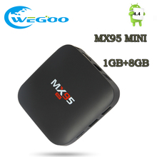2017 MX95 MINI Smart Android TV Box Amlogic S805 1GB 8GB Quad Core 1G+8G HDMI H.265 WIFI Media Player SET UP TV BOX pk t95x A95X