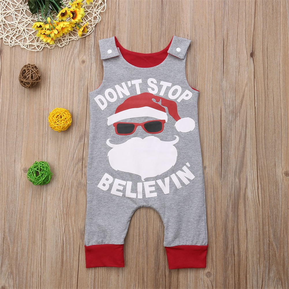 Baby Kids Boy Girl Infant Clothing Sleeveless Romper Jumpsuit Cute Cotton Christmas Clothes Party Clothing Baby Boys 0-24M