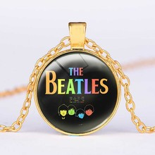 The Beatles Necklace,,Glass Picture Pendant, Music Pendant Band Jewelry,Glass Cabochon Necklace