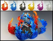 6 Styling Soul Burning Flame Effect Action Figure Toy Accessory Model Fit One Piece Dragon Ball Collection Toys