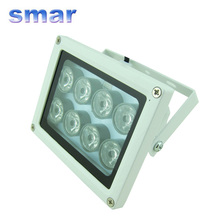 100% Brand New Night vision 8 LED Array IR Infrared Illuminator Lamp 40-80m illuminating For CCTV Camera(China)