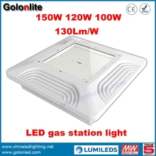 Competitive price and Super Bright 130Lm/w recessed surface ceiling mounting led canopy light gas station
