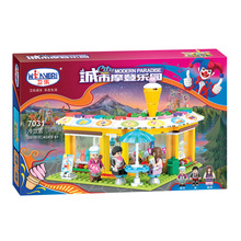 City Modern Paradise Series Cold Drink Shop Model Building Mini City Store Set  kid toys Christmas gift