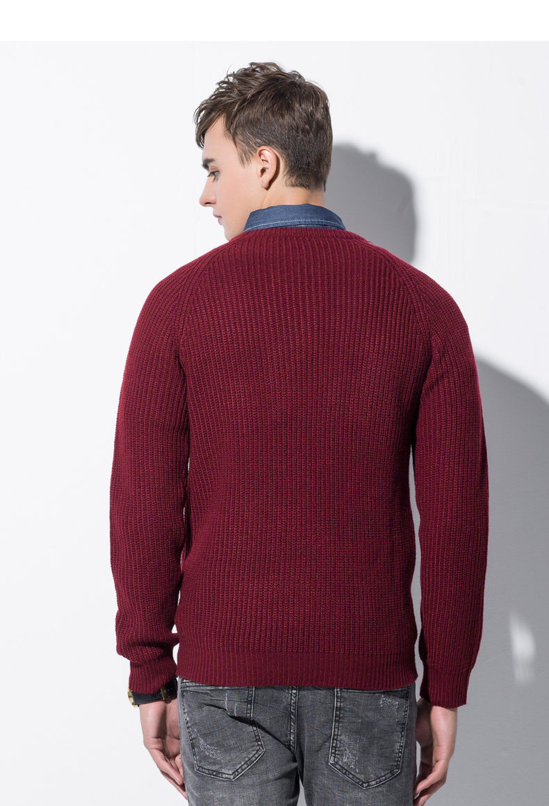 3Color Winter Men Pullover Sweaters Warm Thick Sweater Men Autumn Knited Male Pullover Jumper Navy Red Khaki Brand Muls M-4XL-05