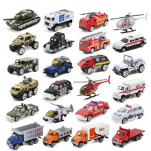 5PCS/Lot 1:64 Diecasts Alloy Model Car Suit Army City Fire Engine Boy Toy Car Hot Wheels Cars Machines Kids Toys for Children