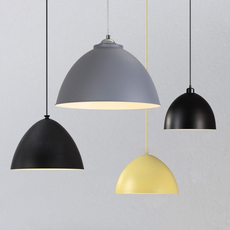 Minimalist metal pendant lamp simple dining room Restaurant Bar pandent light fashion LED lighting luminarias para teto lampara<br>