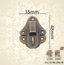 Hardware supplies Antique Bronze Jewelry Wooden Box Hasps Drawer Latches Decorative Brass Suitcases Hasp Buckle Clasp