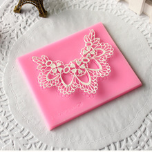 Necklace pattern Sugar Lace mat, Silicone Mold, Cake Fondant Mold, Cake decoration mold D439(China)