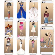 Pretty Girls Pattern Soft Phone Cases For Iphone 5 5S SE 6 6S 7 7 Plus Cover Silicon Shell Cases For Apple Iphone5S 6S Capa
