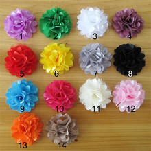 Hot Sale!100pcs/lot 14colors shabby fabric flowers for girl headbands hairband hair ornaments diy accessories(China)