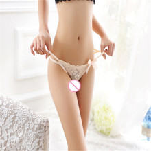 Sweetheart panties lace complex sexy briefs women transparent temptation embroidered underwear summer(China)