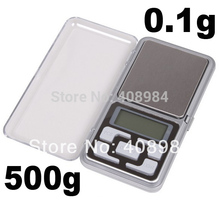 Factory price New 500g x 0.1g Mini Electronic Digital Jewelry weigh Scale Balance Pocket Gram LCD Display With Retail Box
