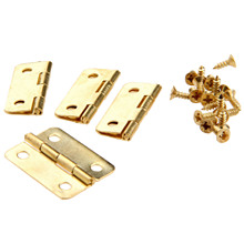 4Pcs Kitchen Cabinet Door Hinges for Caskets Furniture Accessories Drawer Hinges for Jewelry Boxes Furniture Fittings 24x18mm