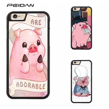 PEIDAN Waddles Gravity Falls cute pig cover cell phone case for iphone X 4 4s 5 5s 6 6s 7 8 6 plus 6s plus 7 plus 8 plus #ee481(China)