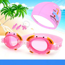 YUKE children goggles waterproof anti-fog boy girl  frame swimming cap children/baby swimming caps