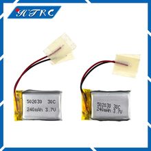 2 pcs 3.7V 240 mAh 30C Li-Po Battery 502030 Hot sale For 6020 Syma S107 S108 S109 S026 rc Helicopter rc quadcopter Free shipping