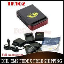 20pcs GSM/GPRS/GPS Tracking GPS tracker TK102 b with car battery cable 12v DHL Free Shipping