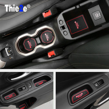 16 pcs Anti-slip Non-slip Rubber Cup Sticker Gate Slot Pad Door Groove Mat For Jeep Renegade 2016 2017 Car Styling