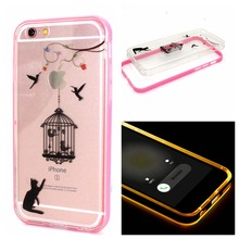 New Cheap  TPU+PC LED Calling Flash Light Up Case Remind Incoming Call Cover for Apple iPhone 6 6s 4.7inch  Fundas capa