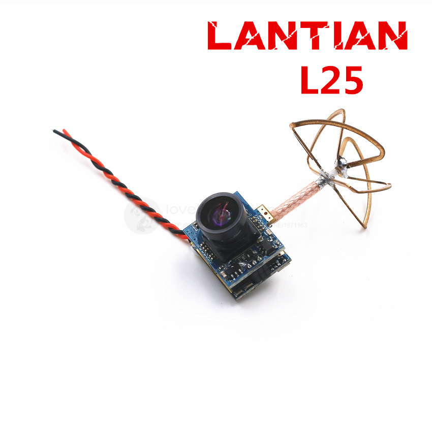 Lantian L25 5.8G integrated 25MW 32-CH NTSC VTX with 520TVL mini camera better than FX797T for DIY FPV room micro brushed  drone<br>