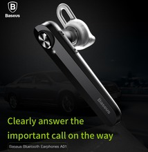 BASEUS Brand Bluetooth 4.1 Earphone Can Connect with Two Devices With Pure High-Fidelity 10M Wide Range For Universal Cell phone(China)
