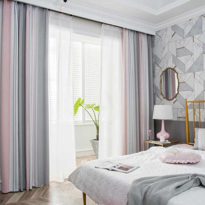 stripe curtain living room and for bedroom tulle curtain white curtain new style custom made size free shipping S124&30