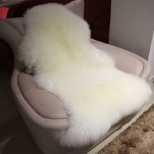 MUZZI 100% Real Pure Wool Sheepskin Carpet For Living Room Floor Pad Mats Bed Blanket Custom Bedroom Windows pads 002(China)