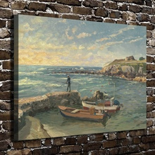H1249 Thomas Kinkade Caesarea Scenery, HD Canvas Print Home decoration Living Room Bedroom Wall pictures Art painting(China)