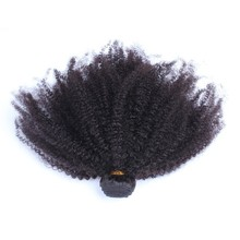 CARA Mongolian Afro Kinky Curly Hair Weaving Natural Color Non-Remy Human Hair Extensions 1 Piece
