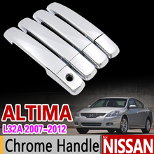 for Nissan Altima 2007 - 2012 L32A Chrome Handle Cover Trim Set Sedan Coupe 2008 2009 2010 2011 Accessories Stickers Car Styling(China)