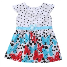 Baby Kids Girls Summer Dress Polka Dots Princess Butterfly Floral One-piece Dresses