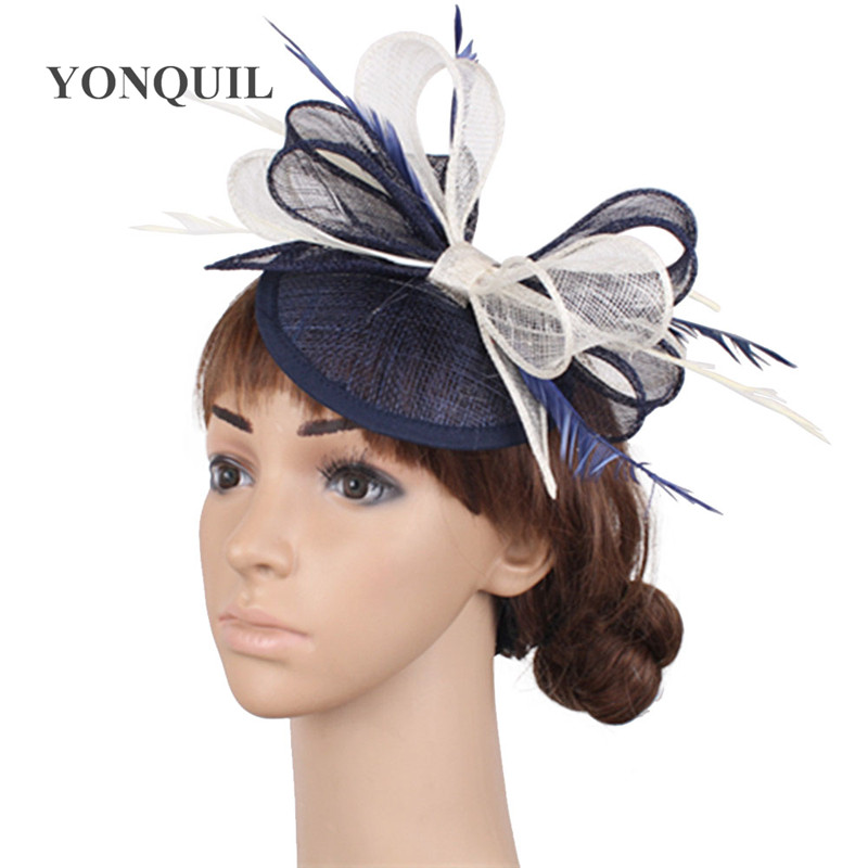 Brown Fascinator in mesh and biot feathers on a headband Weddings Races