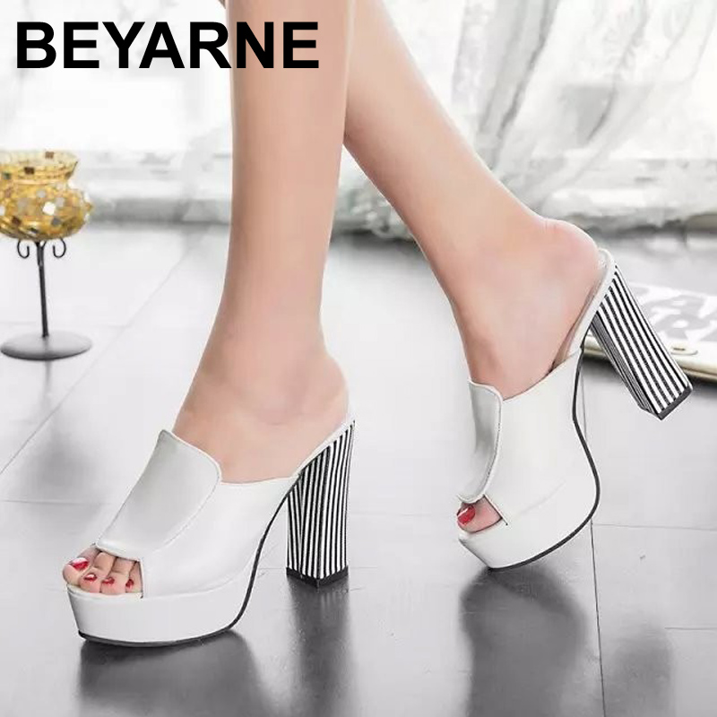 Summer 2015 new leather sandals and slippers women platform sandals shoes wedges platform shoes with comfort in Korea <br><br>Aliexpress