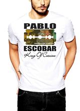 Pablo Escobar T-Shirt Medellin Cartel King of Plato A Plomo Colombian Short Sleeve Men T Shirt Tops Summer Fashion
