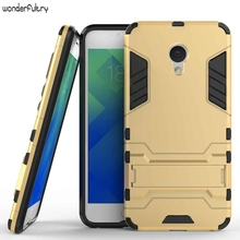 Wonderfultry Meizu M5 Meilan 5 Case Robot Armor Capa Silicone Rubber Hard Back Phone Cover Coque Meizu Meilan M5