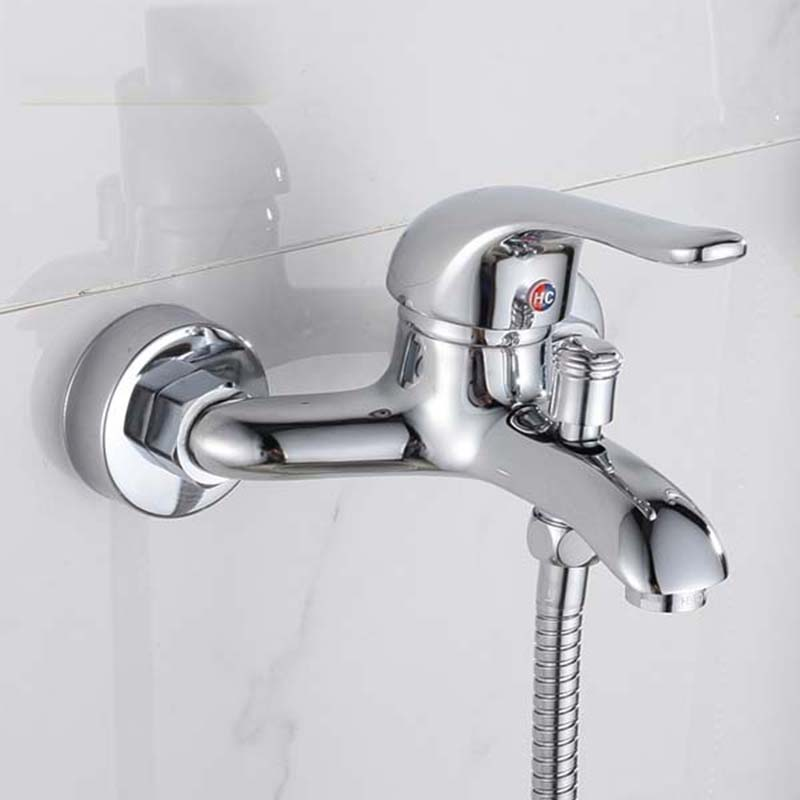 high quality Copper hot and cold faucet bathroom shower accessory KF143<br><br>Aliexpress